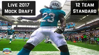 Live 2017 Fantasy Football Mock Draft - 12 Team Standard Free HD Video