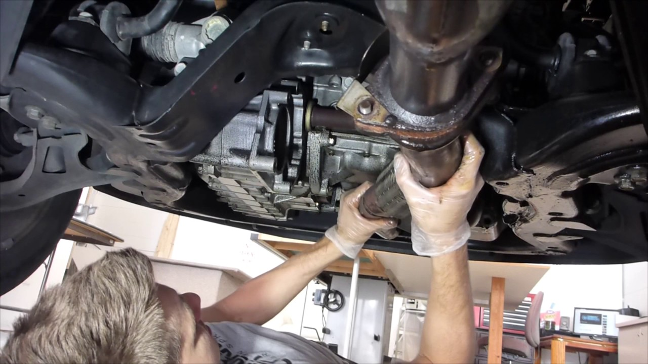 saturn vue exhaust removal oil pan replacement instructional how to
