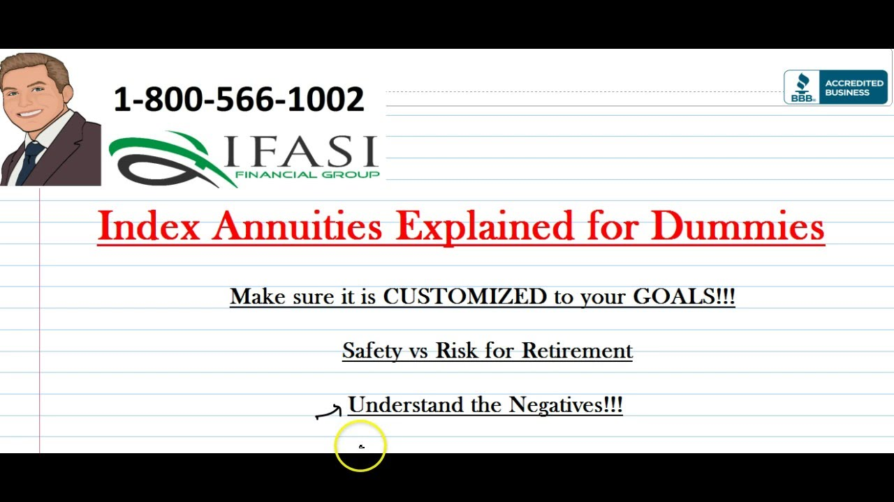 Index Annuity Index Annuity For Dummies Youtube