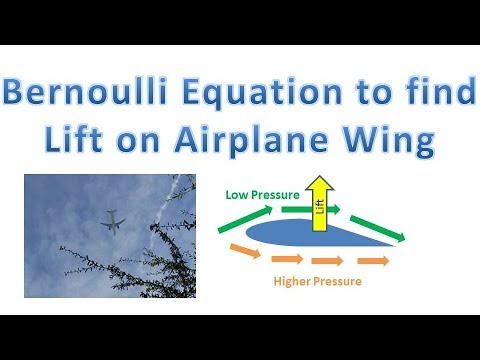 How Planes Generate Lift (Airplane Wing Bernoulli Equation Problem to Find Lift)