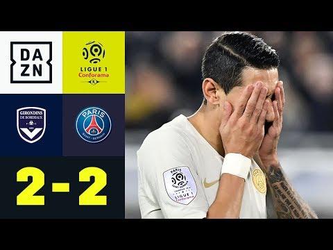 PSG-Siegesserie gerissen: Girondins Bordeaux – Paris Saint-Germain 2:2   Highlights   Ligue 1   DAZN
