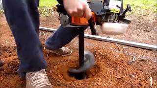 How To Use a Post Hole Digger - BAUMR AG Earthauger made EASY [HD] 2015