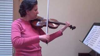 Suzuki Violin - Bach Double 2nd Violin part slow practice - www.fingerboardworkbookseries.com
