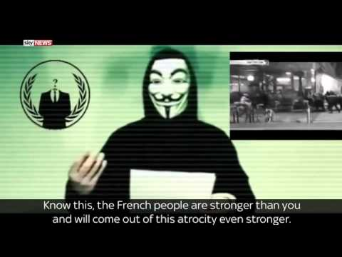 Activist group #Anonymous promises revenge on ISIS for #ParisAttacks