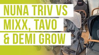 Nuna TRIV Stroller 2020 vs MIXX, DEMI Grow, TAVO | Stroller Comparison | Magic Beans Stroller Review