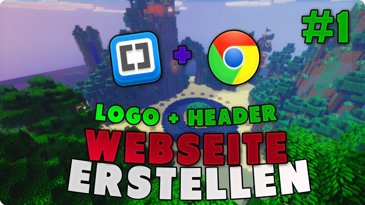 Minecraft Server Webseite Erstellen Logo Header YouTube - Minecraft server homepage erstellen