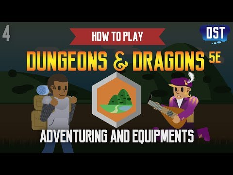 How To Play Dungeons And Dragons 5e - Adventuring And Equipments