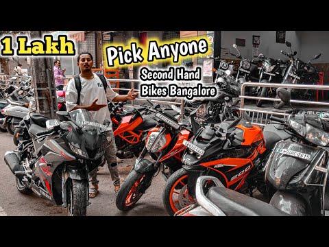 Second Hand Bikes in Bangalore    Used Bikes Market In Bangalore. VV Puram & Pipeline Road .