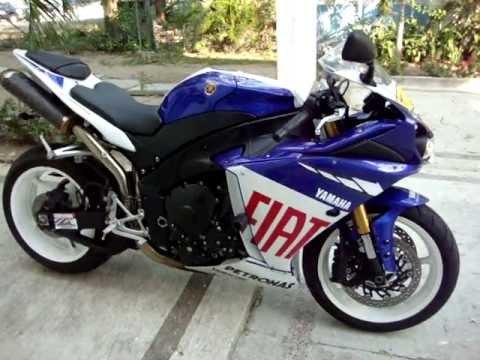 YAMAHA R1 2009 FIAT EDITION SPECIAL MOTOS GIBSONN - YouTube