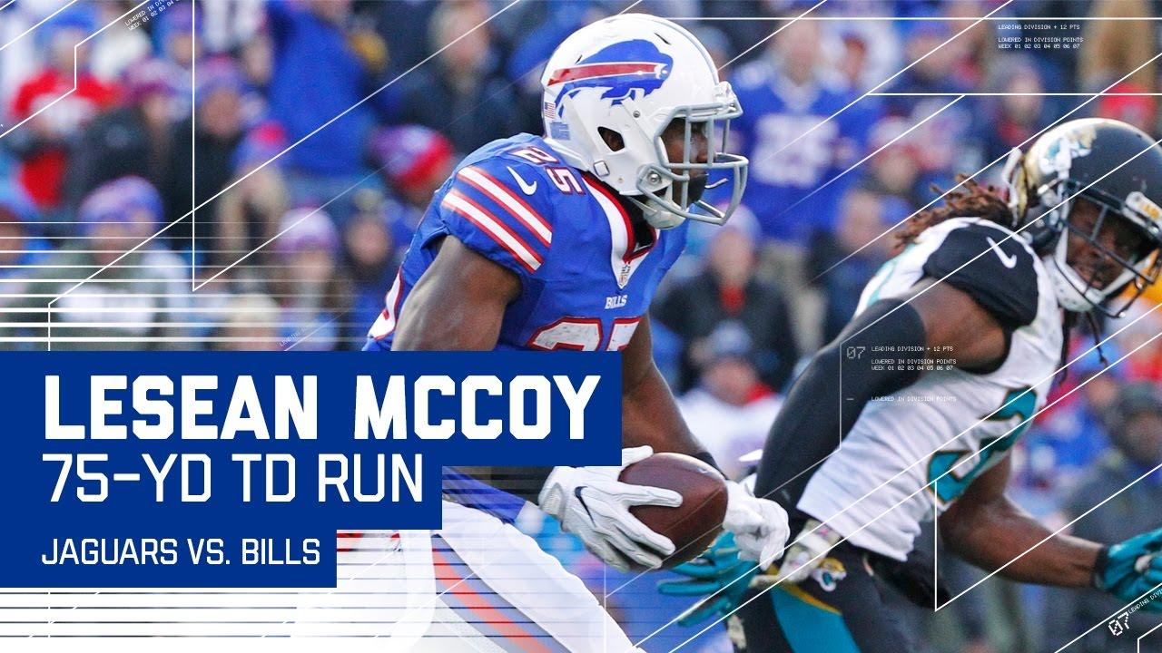 LeSean McCoy Breaks Away for a 75 Yard TD Run
