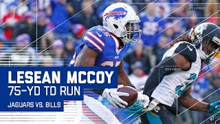 LeSean McCoy Breaks Away for a 75-Yard TD Run! | Jaguars vs. Bills | NFL