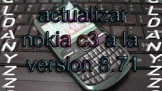 actualizar nokia c3 a la version 8.71