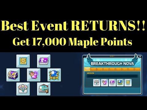 BEST MAPLESTORY EVENT RETURNING (Breakthrough Event)   Axgunner's Event Guide   Maplestory