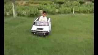 Electric hummer toy car