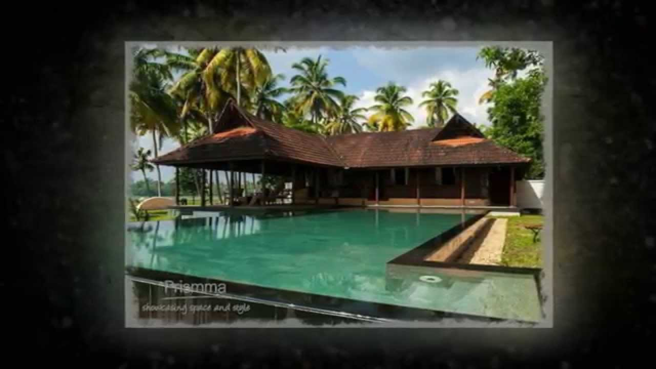 Kerala architecture: Traditional house on Marari Beach - YouTube
