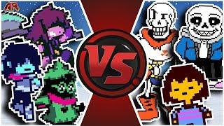 DELTARUNE vs UNDERTALE WAR! (Deltarune Animation)   Cartoon Fight Club Episode 294