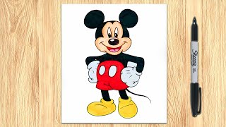 mickey mouse easy step drawing