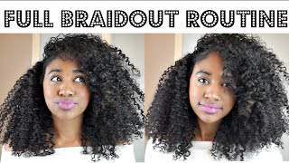 full braid out tutorial on natural hair wash included