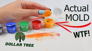 A total mess...Testing Dollar Tree Paint
