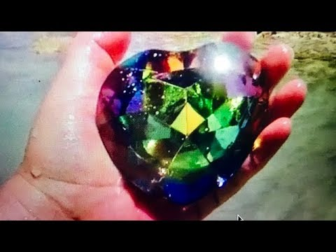 REAL RAINBOW HEART OF OCEAN GEMS FOUND ON REMOTE ISLAND ON FUN HOUSE TV