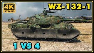 World of Tanks | WZ-132-1 - 8 Kills - 8,6K Damage - 1 VS 4 Gameplay