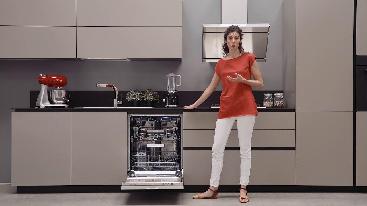 Lavastoviglie Smeg con sistema di lavaggio PLANETARIO e cerniere FLEXI FIT