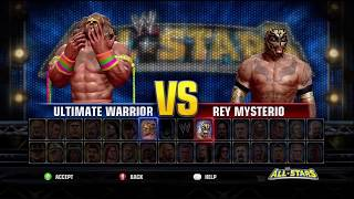 WWE All Stars Demo - Ultimate Warrior vs. Rey Mysterio Jr.