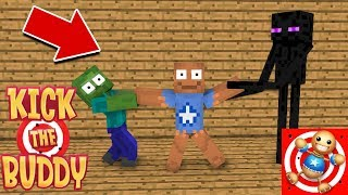 Monster School : KICK THE BUDDY CHALLENGE - Minecraft Animation
