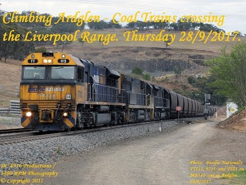 Ardglen Bank Coal Trains. Thursday 28/9/2017