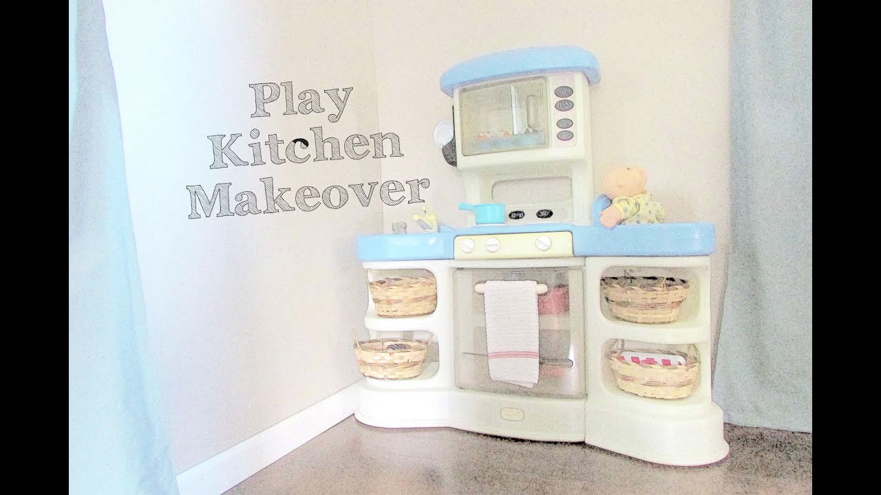 Play Kitchen Makeover + GIVEAWAY {MagicMil Chalkboard Labels} - YouTube