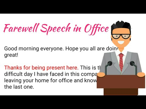 Farewell Speech In Office - 4 | How To Deliver A Speech In English | Farewell Speech In English