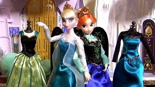 Disney FROZEN Deluxe Fashion Doll Set Elsa Princess Anna in her Coronation Dress La Reine des Neiges