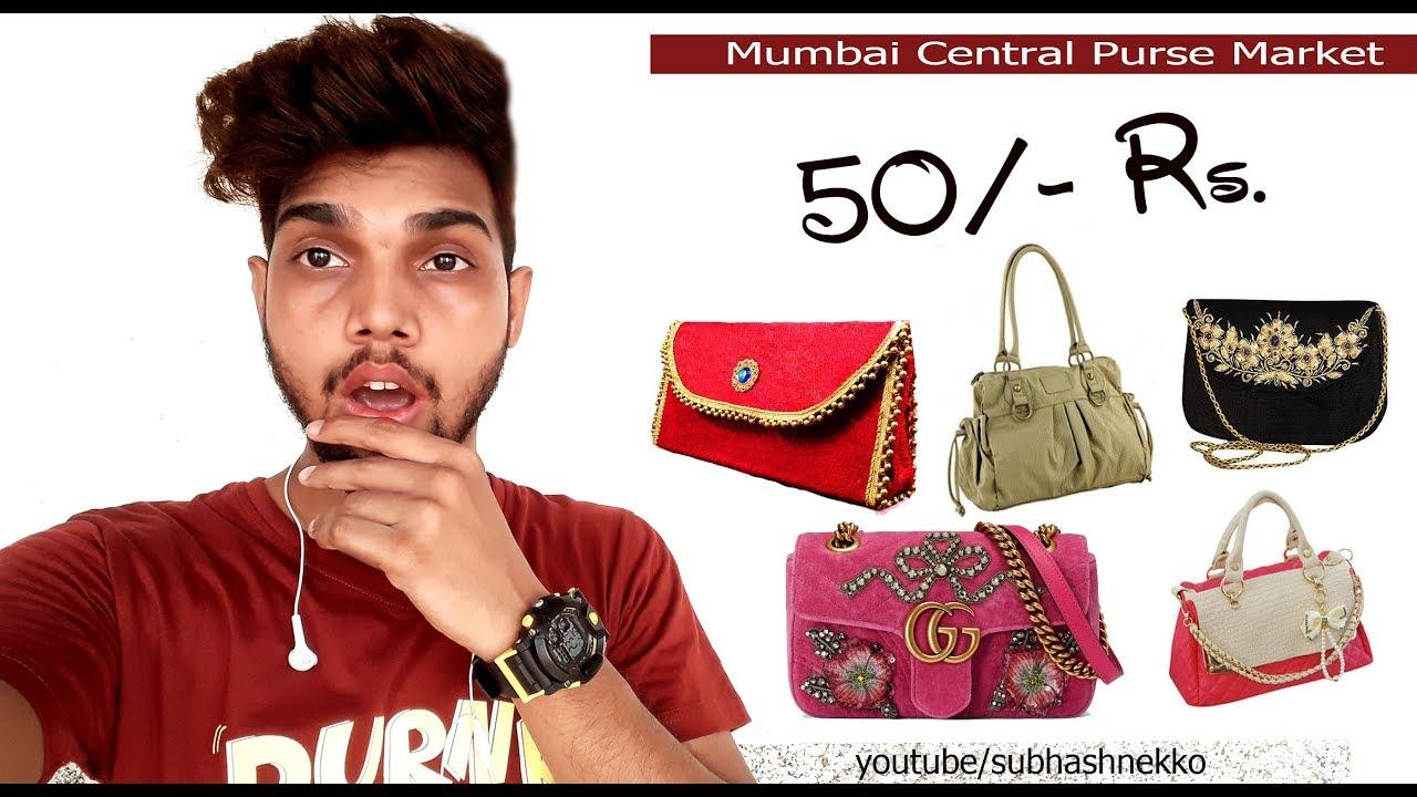 f22fc37c63d8 Ladies Purse Bag Wholesale Market I लेडीज पर्स होलसेल मार्केट I Mumbai  Central