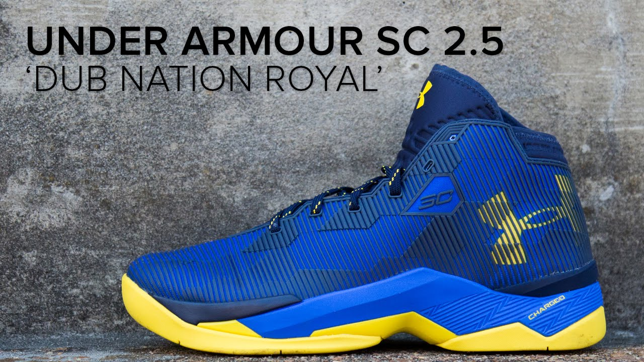 151426c1efa2 Under Armour Steph Curry 2.5  Dub Nation Royal  Quick on Feet Look ...