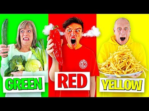 Eating Only ONE Color of Food for 24 Hours - Challenge