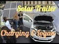 Electric Logan charging with solar trailer