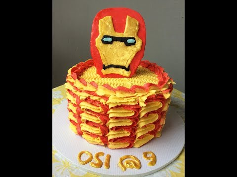 IronMan Cake in Buttercream Frosting