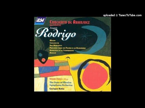 Joaquín Rodrigo : Concierto de Aranjuez, arranged for harp and orchestra (1939 rev. 1973)