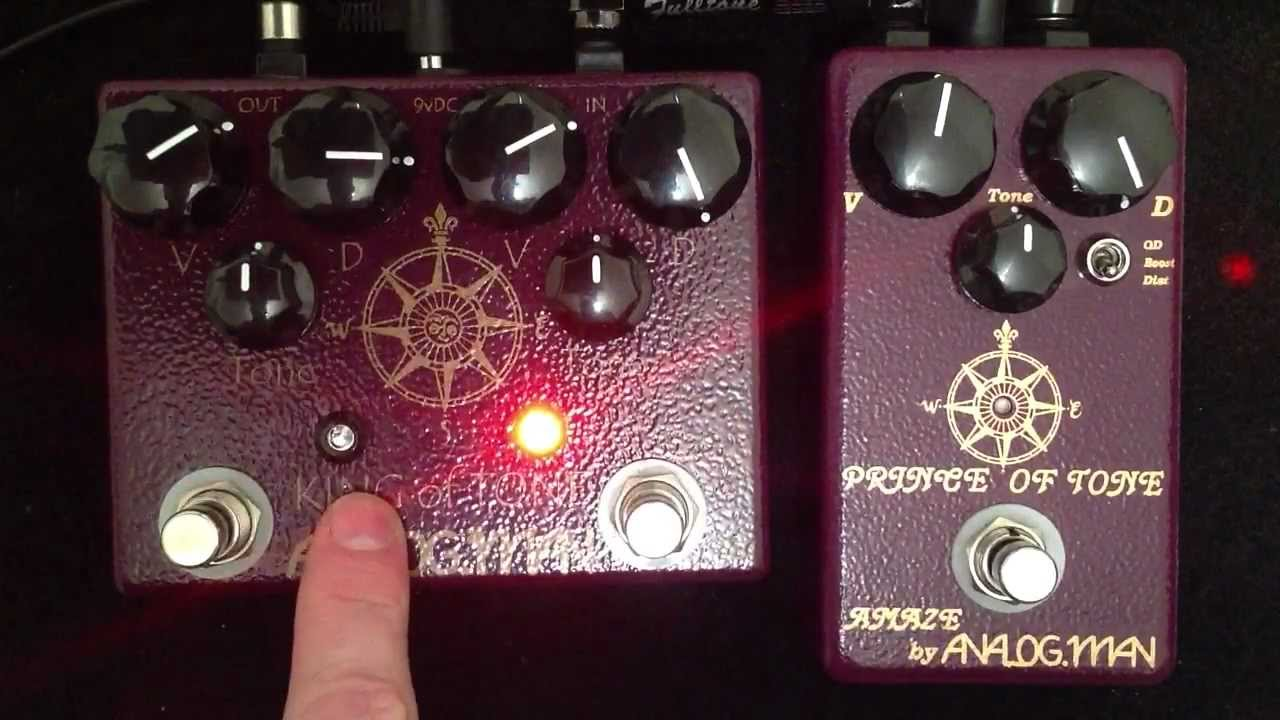 Analogman King Of Tone High Gain Red Side Vs Prince Of