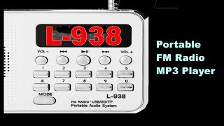 L-938 Portable FM Radio MP3 Player WHITE