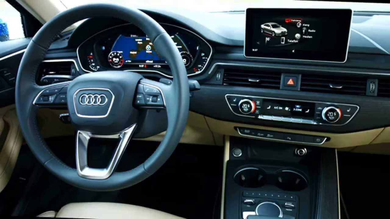 all new 2016 audi a4 sedan interior youtube. Black Bedroom Furniture Sets. Home Design Ideas