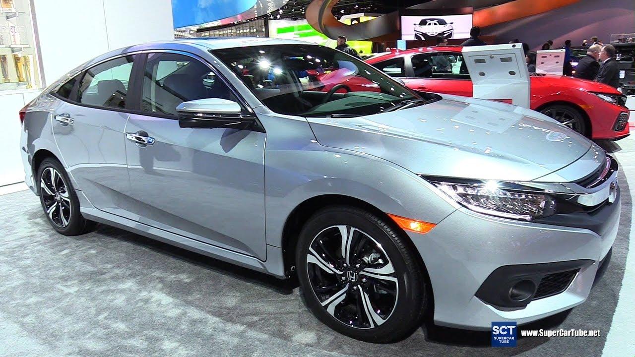 2017 Honda Civic Touring Exterior And Interior Walkaround Detroit Auto Show