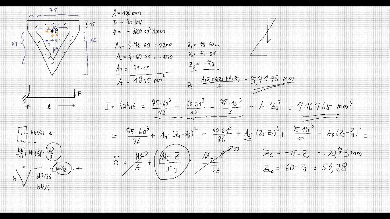 mechanik2 schweinaht - Schweisnahtberechnung Beispiel
