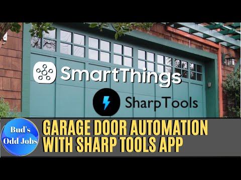 📱-smartthings-&-sharptools-|-auto-close-garage-door-at-dusk