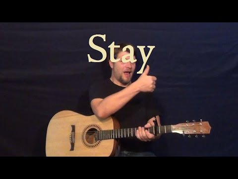 Stay (Rihanna) Easy Guitar Lesson Strum Chords How to Play Tutorial ...