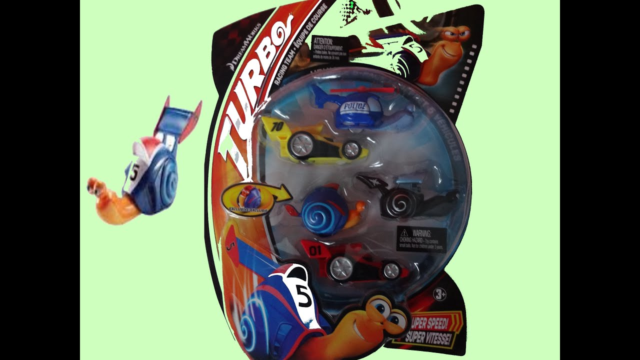 TURBO The Movie Racing Team - Shell Racers 5 New Cars Toys ...