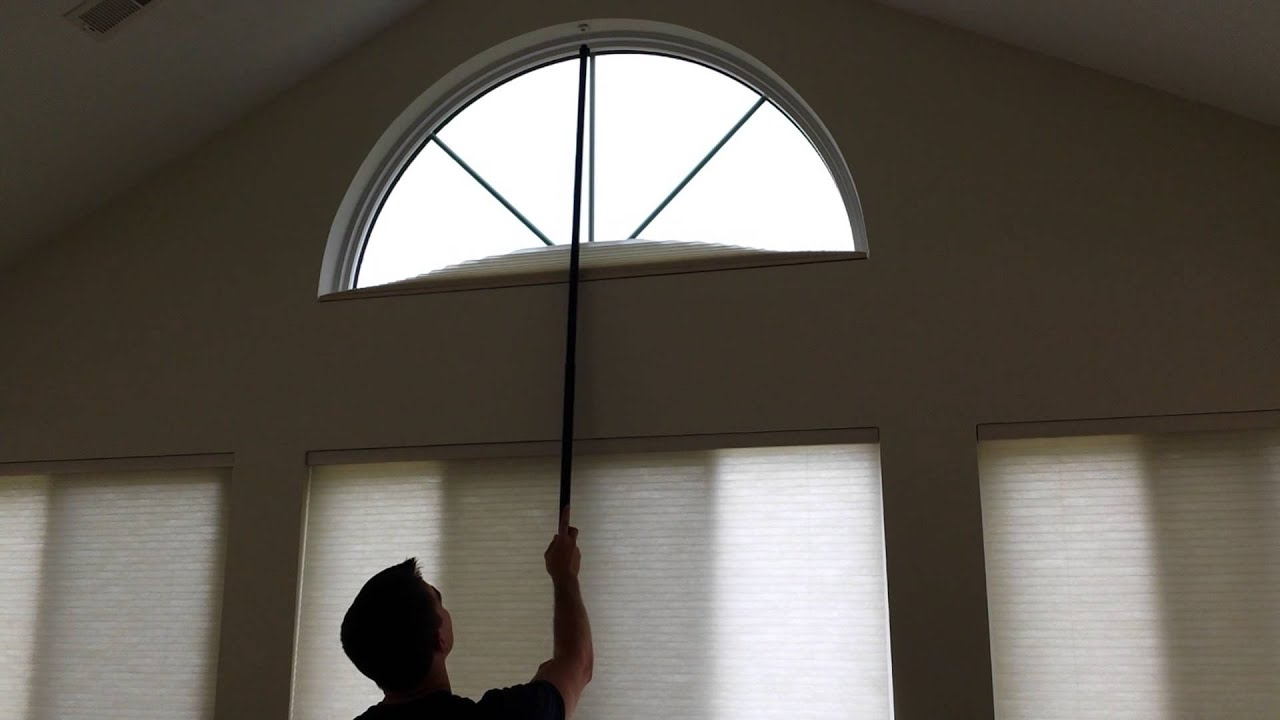 Arch window shade arch window treatment decorating for Arch window decoration