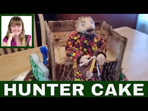 How To Make A Hunting Cake ( With A Tree Stand & A Crossbow Hunter Cake Topper )