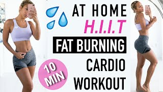 AT HOME HIIT | Fat Burning WORKOUT, less than 10 minutes!