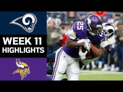 Rams vs. Vikings | NFL Week 11 Game Highlights